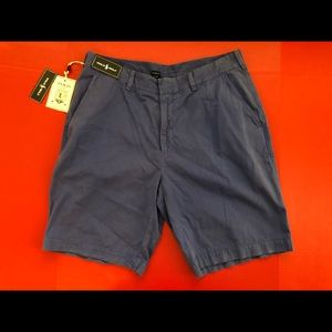 NEW Polo Golf Shorts 34W Blue NWT Flat Front Garme